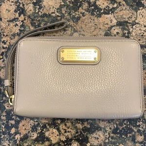 Marc by Marc Jacobs Taupe Wristlet Zip Wallet